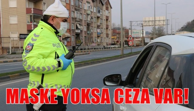Araç içinde maske takmayan 7 kişiye 6 bin 300 TL ceza
