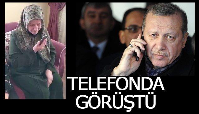 Cumhurbaşkanı Erdoğan, şehit ailesine telefon etti