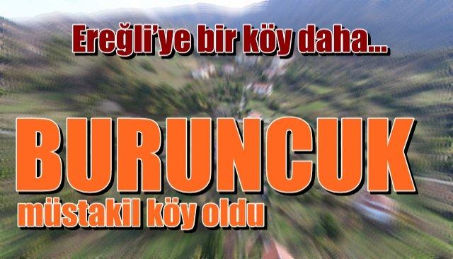 Ereğli'ye bir köy daha… BURUNCUK!