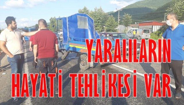 Zonguldak´ta trafik kazası: 3 yaralı