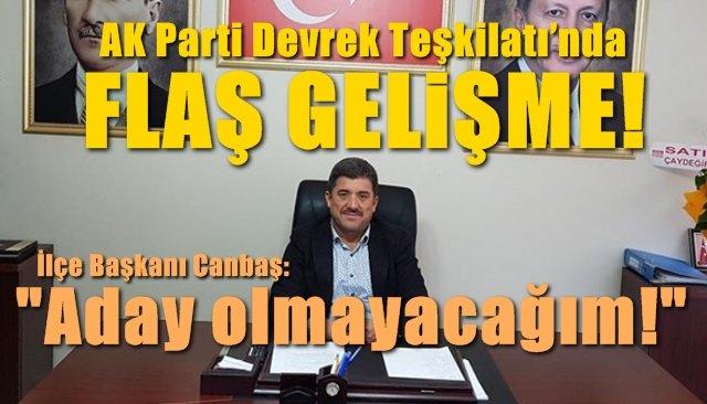 AK Parti Devrek Teşkilatı'nda flaş gelişme…