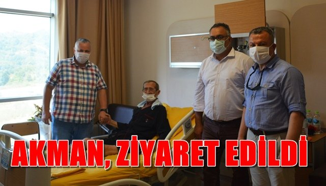 Akman, hastanede ziyaret edildi