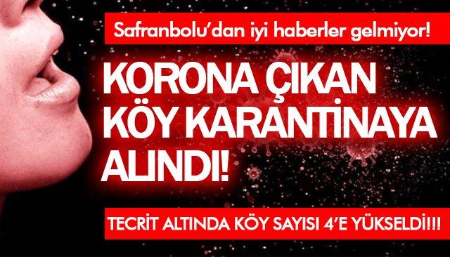 KORONA ÇIKAN KÖY KARANTİNAYA ALINDI! TECRİT ALTINDA KÖY SAYISI 4'E YÜKSELDİ!!!