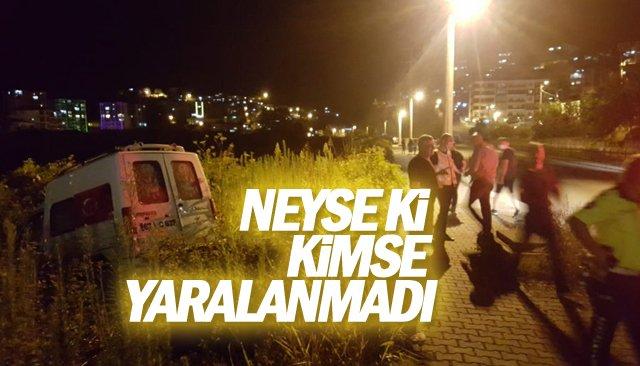 NEYSE Kİ KİMSE YARALANMADI!