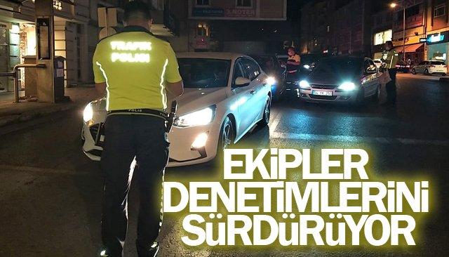 POLİS EKİPLERİ DENETİMLERİNİ SÜRDÜRÜYOR