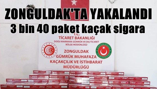 3 bin 40 paket kaçak sigara yakalandı