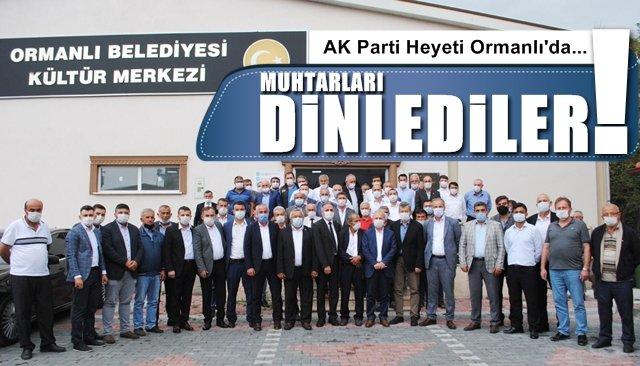 AK Parti heyeti Ormanlı´da...