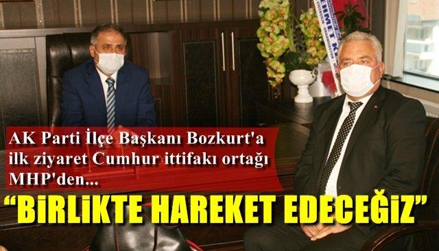AK Parti İlçe Başkanı Bozkurt'a ilk ziyaret Cumhur İttifakı ortağı MHP'den…