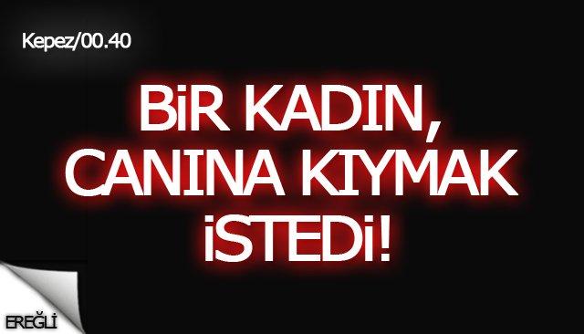 EREĞLİ'DE BİR KADIN, CANINA KIYMAK İSTEDİ!