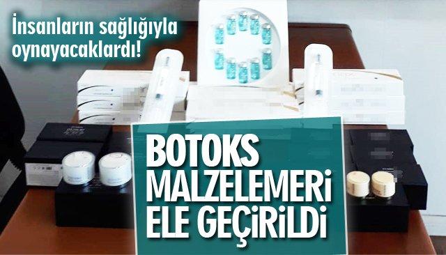 KAÇAK BOTOKS MALZELEMERİ ELE GEÇİRİLDİ!