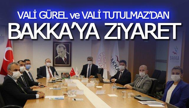 VALİ GÜREL VE VALİ TUTULMAZ'DAN BAKKA'YA ZİYARET