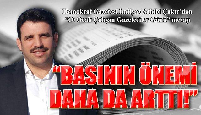"""""""BASIN MESLEĞİNİN ÖNEMİ DAHA DA ARTTI!"""""""