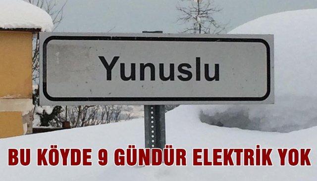 BU KÖYDE 9 GÜNDÜR ELEKTRİK YOK