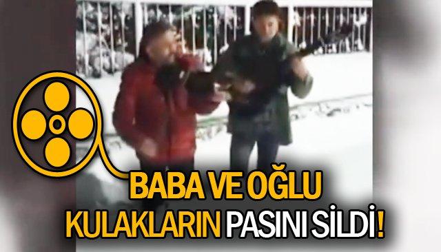 DİZ BOYU KARDA MİNİ KONSER!