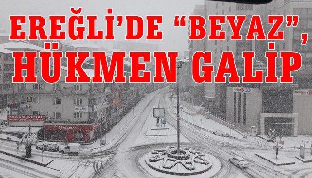EREĞLİ'DE BEYAZ, HÜKMEN GALİP!