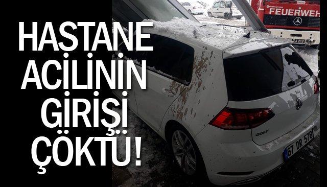 HASTANE ACİLİNİN GİRİŞİ ÇÖKTÜ!