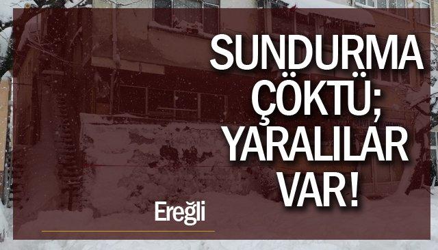 SUNDURMA ÇÖKTÜ; YARALILAR VAR!