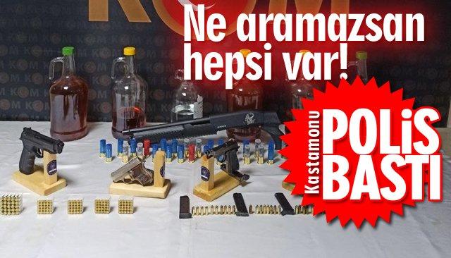 POLİS BASKININDA YAKALANDILAR