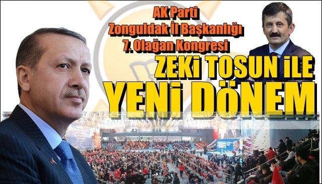 AK Parti 7.  Zonguldak İl Başkanlığı kongresi… ZEKİ TOSUN İLE YENİ DÖNEM...