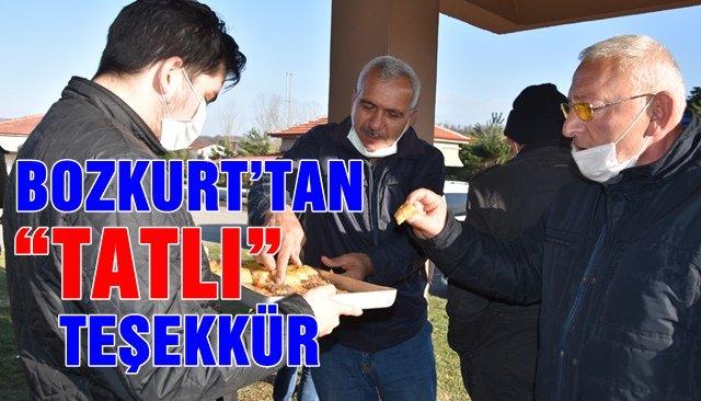 """BOZKURT'TAN """"TATLI"""" TEŞEKKÜR"""