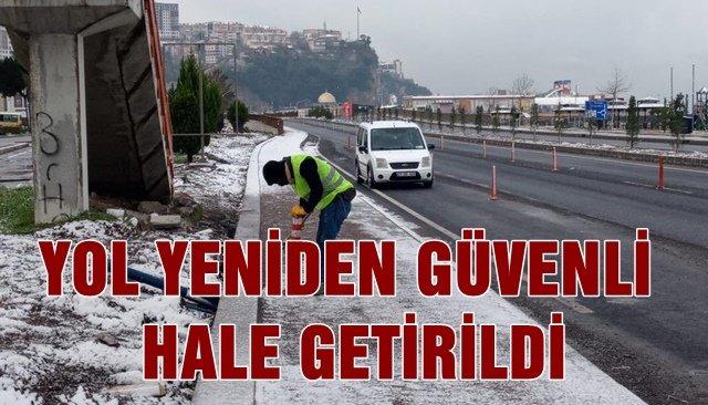 DUBALAR TAMİR EDİLDİ, YOL GÜVELİĞİ SAĞLANDI...