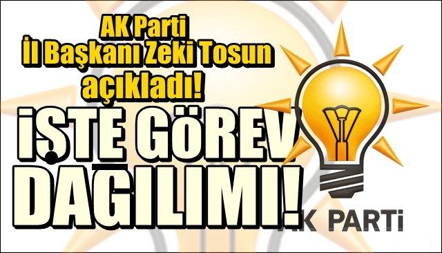 İşte Zonguldak AK Parti İl Teşkilatı´nda görev dağılımı!