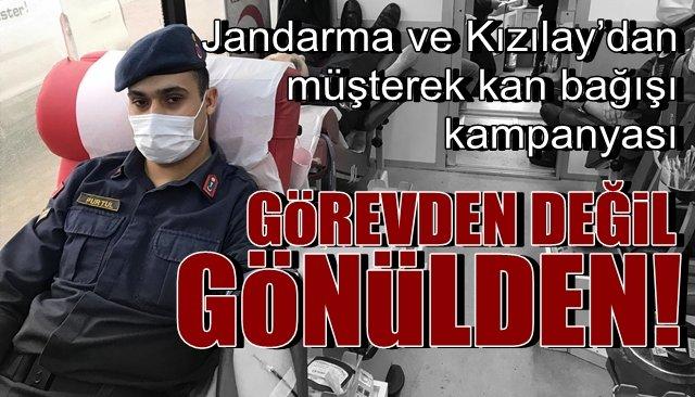 Jandarma ve Kızılay'dan müşterek kan bağışı kampanyası