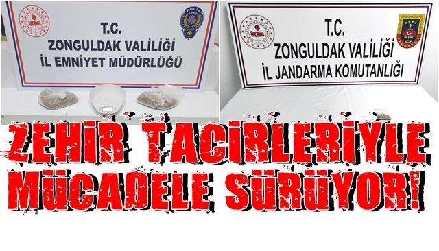 Zonguldak´ta Emniyet ve Jandarma uyuşturucu mücadelesinde