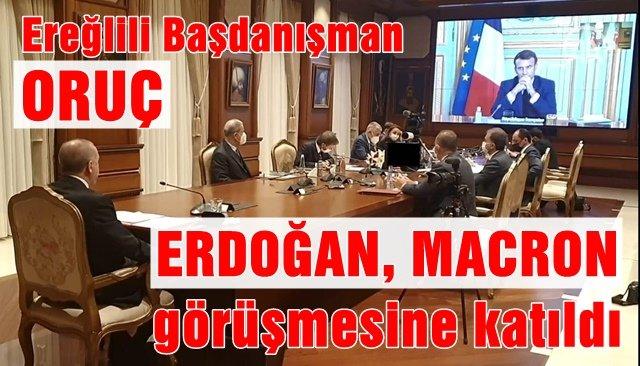 Ereğlili Başdanışman Oruç, Erdoğan Macron görüşmesine katıldı