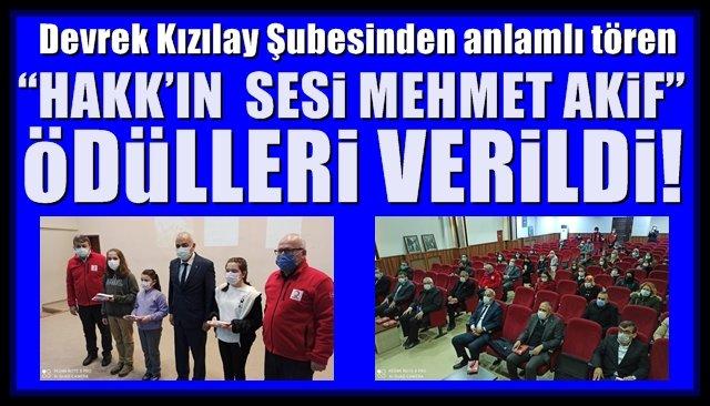 """""""HAKK'IN  SESİ MEHMET AKİF"""" ÖDÜLLERİ VERİLDİ"""