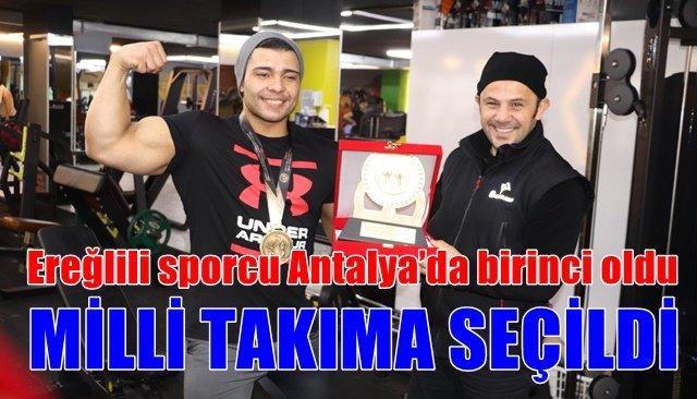 Ereğlili sporcu Antalya'da birinci oldu
