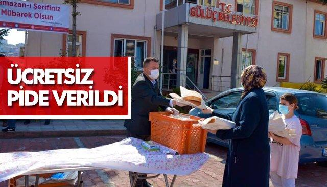 GÜLÜÇ'TE PİDE VERİLDİ