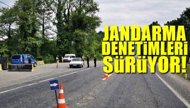 Jandarma denetimleri sürüyor