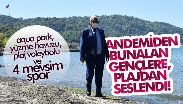 PANDEMİDEN BUNALAN GENÇLERE, PLAJDAN SESLENDİ!