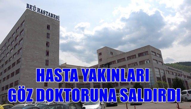 Sağlık çalışanlarına dönük bir saldırı da Zonguldak'ta yaşandı