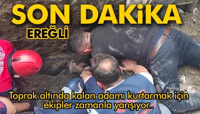SON DAKİKA/ BİR İŞÇİ, TOPRAK YIĞINI ALTINDA KALDI!!!