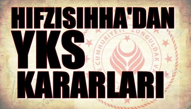 Valilik açıkladı... HIFZISIHHA'DAN YKS KARARLARI