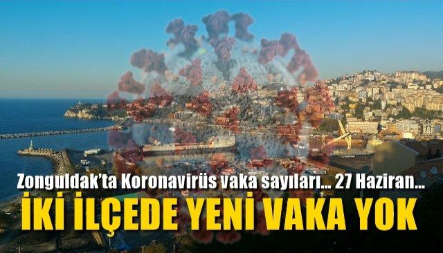 Zonguldak'ta Koronavirüs vaka sayıları… 27 Haziran… İKİ İLÇEDE VAKA YOK