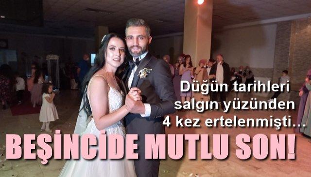 Düğün tarihleri salgın yüzünden 4 kez ertelenmişti… BEŞİNCİDE MUTLU SON!