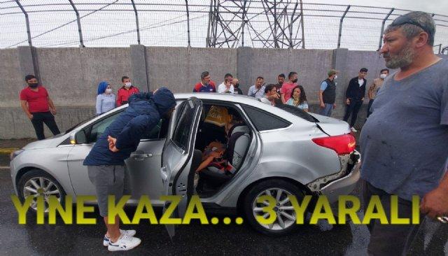 KAZADA 3 KİŞİ YARALANDI