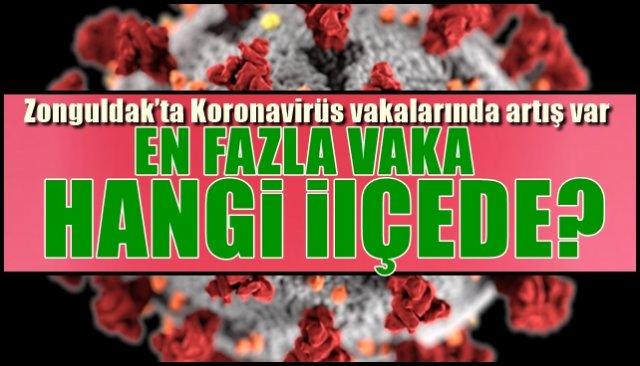 Zonguldak'ta Koronavirüs vakalarında artış var… EN FAZLA VAKA HANGİ İLÇEDE?