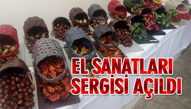 EL SANATLARI SERGİSİ AÇILDI