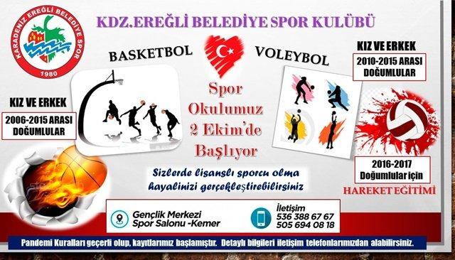 Ereğli Beleidiyespor Spor Okulları açıyor