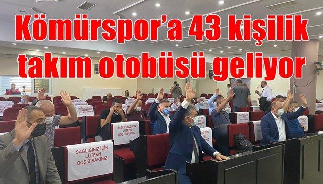 Kömürspor'a 43 kişilik takım otobüsü geliyor