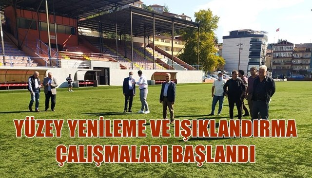 Şehit Vefa Karakurdu Stadı'nda çalışmalar başladı