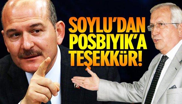 SOYLU'DAN POSBIYIK'A TEŞEKKÜR!