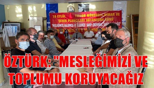 TMMOB Maden Mühendisleri Odası Zonguldak Şube Başkanı Çağlar Öztürk: ´9 Eylül Daynışma gününü kutluyoruz'