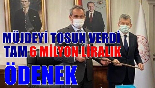 Zeki Tosun müjdeli haberi verdi…6.000.000 TL ödenek Zonguldak'a geldi