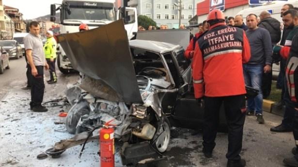 Ereğli´de yürekleri yakan trafik kazası…