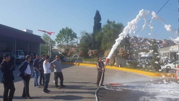 Öğretmenler, yangın eğitim kursunu tamamladı